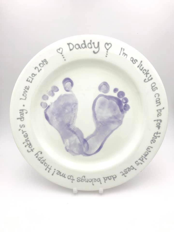 Painted Peppermint Father's Day Pottery