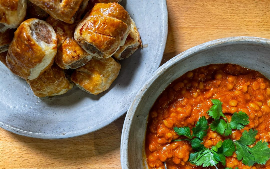The Ultimate Sausage Rolls and Homemade Baked Beans are on the menu for this Saturday's live cook along with Rosemary Shrager!