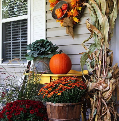 Decorate your Porch for Autumn:Demo with Afternoon Tea