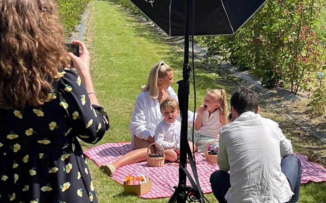 Billie Faiers & family visit the farm